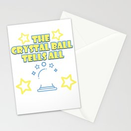 Your Friendly Psychic Tshirt Design crystal ball tells all Stationery Cards
