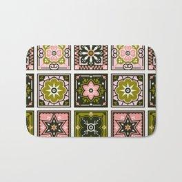 Talavera Mexican Tile – Blush & Sage Palette Bath Mat