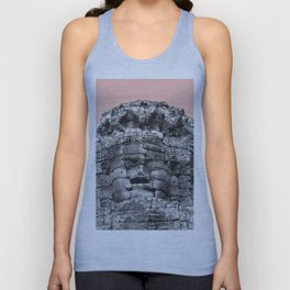 Buddha face with beige Unisex Tank Top