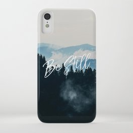Christian Quote - Be Still iPhone Case