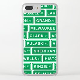 Famous Chicago Streets // Chicago Street Signs Clear iPhone Case