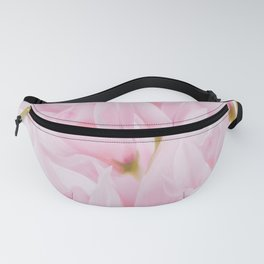 Pink petals on a light background - #Society6 #buyart Fanny Pack