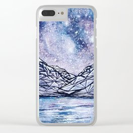 Rockies Under the Stars Clear iPhone Case