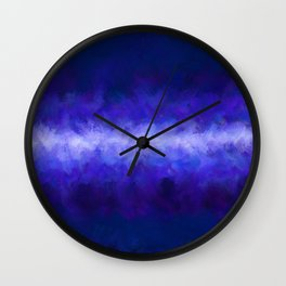 Blue Energy Abstract Wall Clock