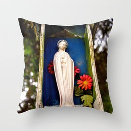 Sheltered statue Throw Pillow