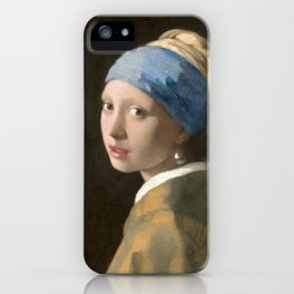 Girl with a Pearl Earring (1665), Old Masters Collection iPhone Case
