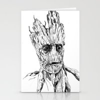 groot Stationery Cards featuring Groot by Giorgia Ruggeri