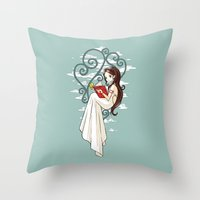 fairy tale Throw Pillows featuring Fairy Tale by Freeminds