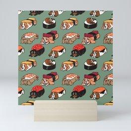 Sushi  Basset Hound Mini Art Print