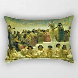 Classical Masterpiece The Slave Market Of Babylon by Edwin Long Rectangular Pillow