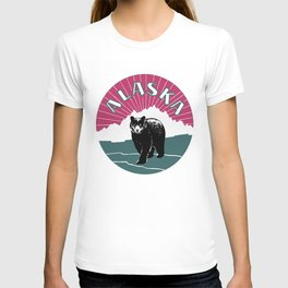 Alaska travel black bear T-shirt