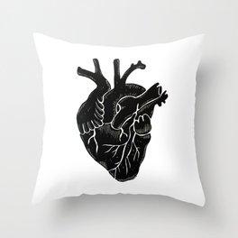 Black Heart II Throw Pillow