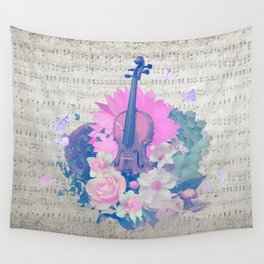 "VIOLIN by collection ""Music"" Wall Tapestry"