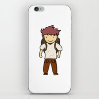 backpack iPhone & iPod Skins featuring Backpack by justang8