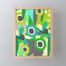 Bright tropical vibe Framed Mini Art Print
