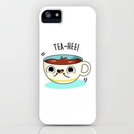 Tea Hee Cute Drink Pun iPhone Case