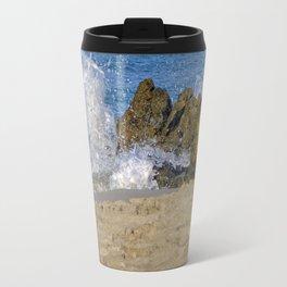 Frothy Spray on Rocks Travel Mug