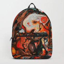 Dirty Acrylic Paint Pour 22, Fluid Art Reproduction Backpack