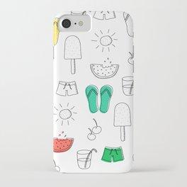 Summer outline iPhone Case