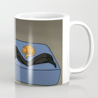 data Mugs featuring Sleepy Data by Brody Bot