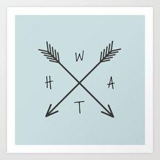 WHAT Compass? Art Print