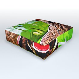 french bulldog basketball vector art Outdoor Floor Cushion