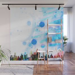 Bright Architecture and Snowflakes Wall Mural