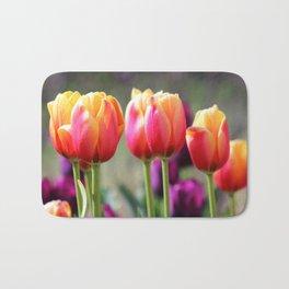 Tulips Aflame Bath Mat