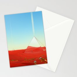 Mirror Pyramids Stationery Cards