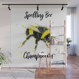 Spelling Bee Champbeeon - Punny Bee Wall Mural