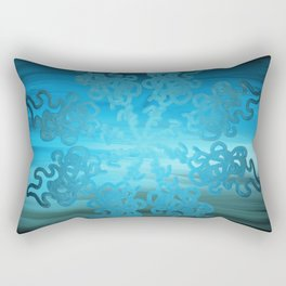 Ice Cold Abstract Rectangular Pillow