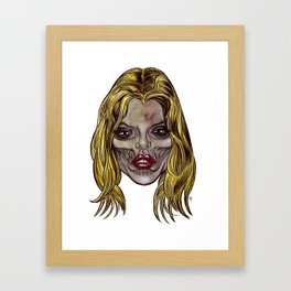 Heads of the Living Dead Zombies: Hot Blonde Zombie Framed Art Print