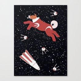 Laika - Space dog Canvas Print
