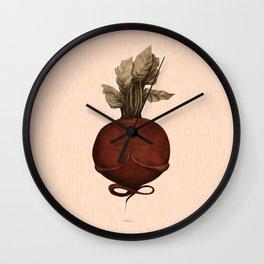 beetroot yoga Wall Clock
