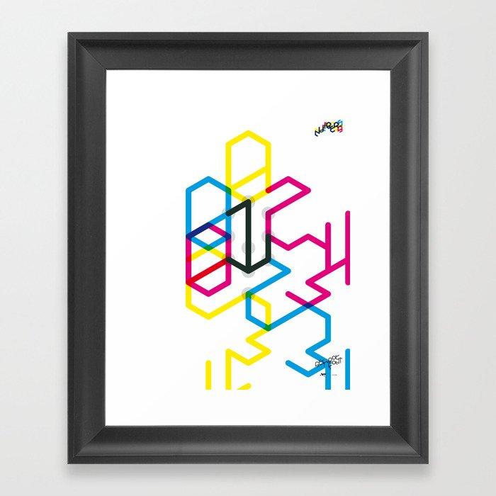 Number one Framed Art Print