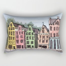 Amsterdam Street Scene Rectangular Pillow