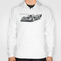 porsche Hoodies featuring Porsche 962 by sesven