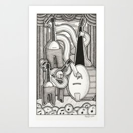 Banjo Band Art Print