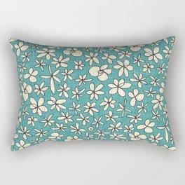 garland flowers blue Rectangular Pillow