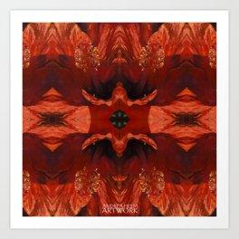 Blaze Orange Hibiscus Flower Art Print