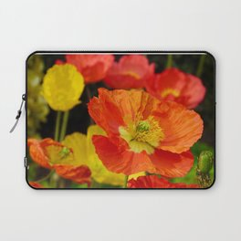 Colorful Poppy Flowers Laptop Sleeve