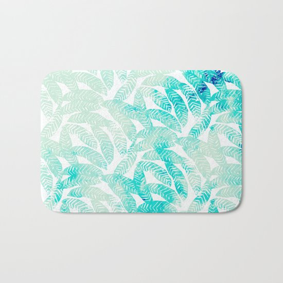 Painted Leaf Evolution #society6 #decor #buyart Bath Mat
