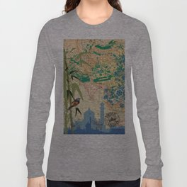 India TajMahal Bamboo Agra Long Sleeve T-shirt