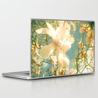 magnolia Laptop & iPad Skins featuring Magnolia by Cassia Beck