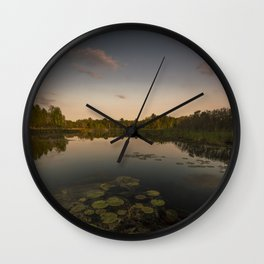 Water Lilly Landscape Wall Clock