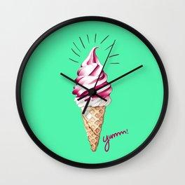 Yummy Ice Cream | Digital Art Wall Clock