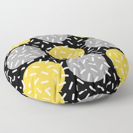 Memphis Polka Dot Sprinkles Pattern 133 Floor Pillow