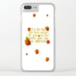 rose #2 Clear iPhone Case