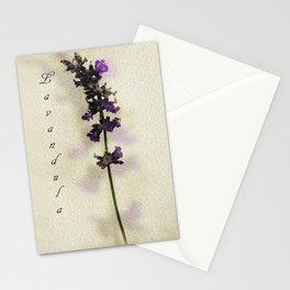 Purple Lavender Stationery Cards