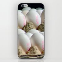 eggs iPhone & iPod Skins featuring EGGS by Avigur